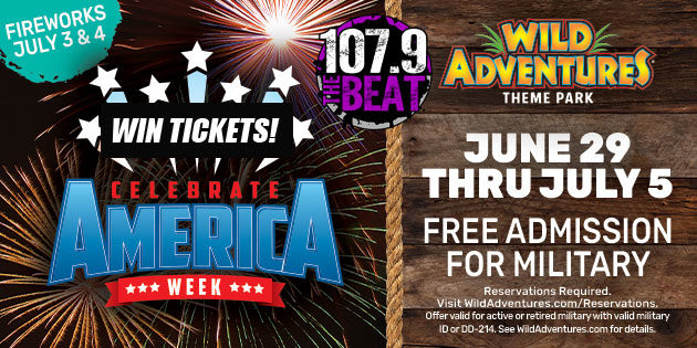 WIN TICKETS TO CELEBRATE   AMERICA WEEK AT WILD ADVENTURE